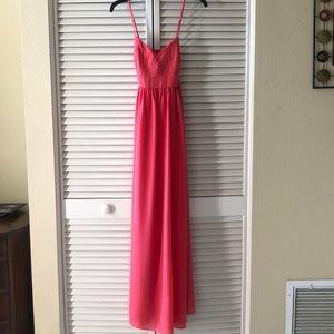 *FLAWS*  Belle Badgley Mischka Coral Dress 8